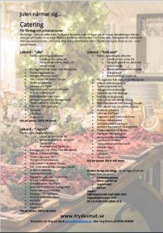 Skärmklipp Catering julbord
